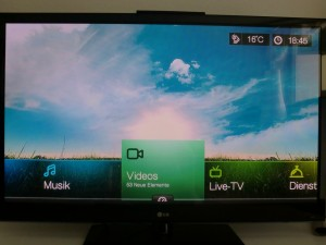 WD TV Live Startbildschirm