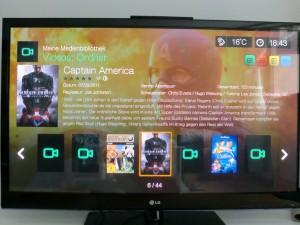 WD TV Live Medienbibliothek Filmansicht