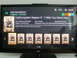 WD TV Live Medienbibliothek Serienansicht